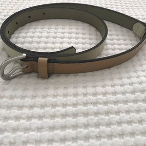 LOFT Two Toned Skinny Belt